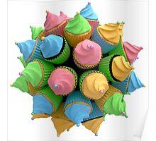 Digitale Cupcakes Poster