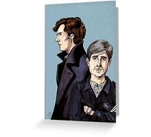 Consulting Detectives Greeting Card