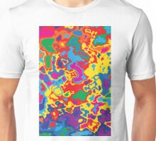 Very coloured map, spot of paint.  Unisex T-Shirt