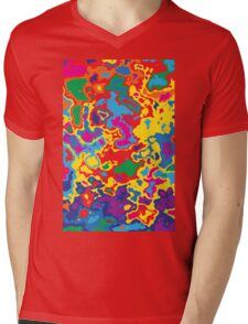 Very coloured map, spot of paint.  Mens V-Neck T-Shirt