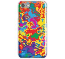 Very coloured map, spot of paint.  iPhone Case/Skin