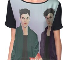#32A Dolan twins Chiffon Top