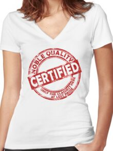 Noble Quality Certified Women's Fitted V-Neck T-Shirt
