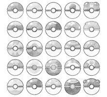 Pokemon Pokeball Gray Photographic Print