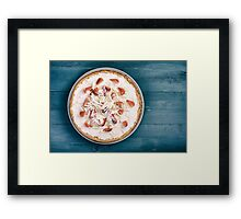 Homemade Strawberry Cheesecake With White Chocolate Framed Print