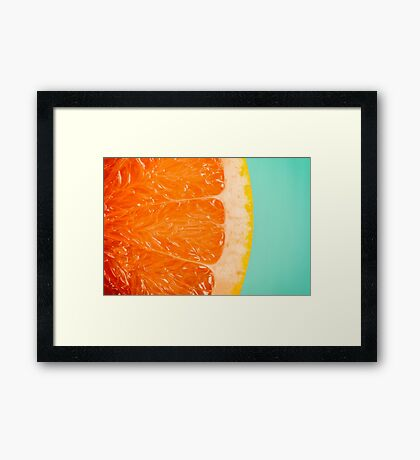 Blood Orange Slice Macro Details Framed Print
