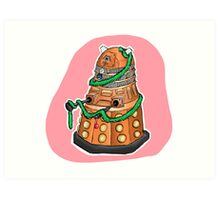 Tinsel Dalek Art Print