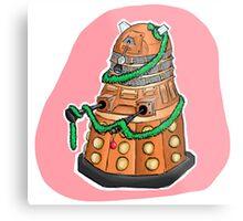 Tinsel Dalek Metal Print