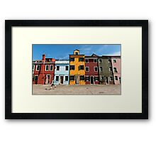 Burano Coloured Houses Framed Print