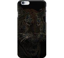 colored tiger, siberian tiger iPhone Case/Skin