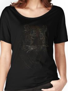 colored tiger, siberian tiger Women's Relaxed Fit T-Shirt