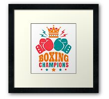 Boxing Framed Print