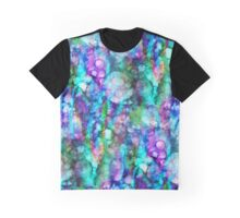 Blue Alcohol Inks Pattern Graphic T-Shirt