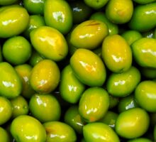 Pile of green olives Sticker