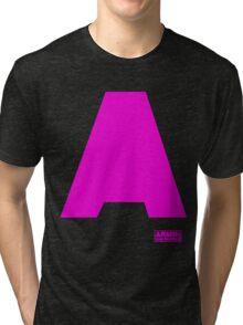 Amin Van Buuren logo A Pink - t-shirt - trance - state of trance - festival - tomorrowland - new Tri-blend T-Shirt