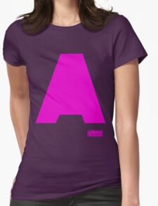 Amin Van Buuren logo A Pink - t-shirt - trance - state of trance - festival - tomorrowland - new Womens Fitted T-Shirt