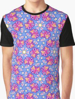 Butterflies, butterfly, heart, flower, mandala, pattern design, sample, ornaments, Graphic T-Shirt