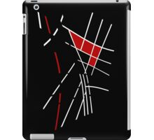 Black, white and red lines iPad Case/Skin