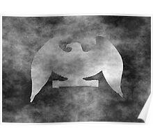 Black Grunge Eagle Poster