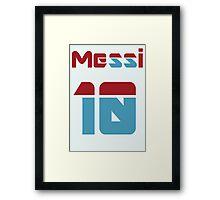 Messi 10 Framed Print