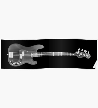 Base Guitar under x-ray  Poster