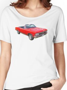 1966 Chevrolet Chevelle Convertible 283 Muscle Car  Women's Relaxed Fit T-Shirt