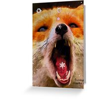 Fabulous Foxes:  Catching Snowflakes Greeting Card