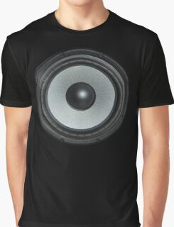 Black Speaker Graphic T-Shirt