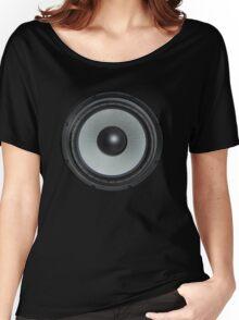 Black Speaker Women's Relaxed Fit T-Shirt