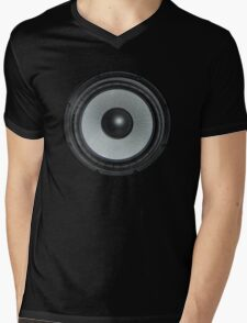 Black Speaker Mens V-Neck T-Shirt