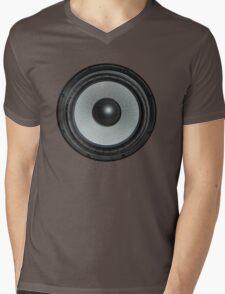 Black Speaker Mens V-Neck T-Shirt