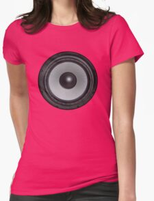 Black Speaker Womens Fitted T-Shirt