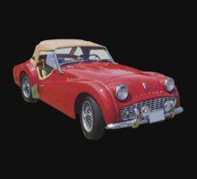1957 Triumph TR3 Convertible Sports Car One Piece - Short Sleeve
