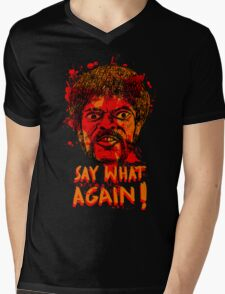 Pulp Fiction say what again! Mens V-Neck T-Shirt