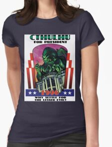 Retro CTHULHU FOR PRESIDENT 1996 T-Shirt Womens Fitted T-Shirt