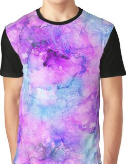 Pink Alcohol Ink Abstract Graphic T-Shirt