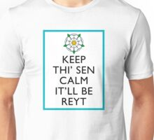 Keep Thi'Sen Calm Yorkshire Unisex T-Shirt