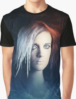 Fire and Ice Portrait Graphic T-Shirt