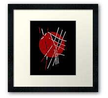 Red, black and white design  Framed Print