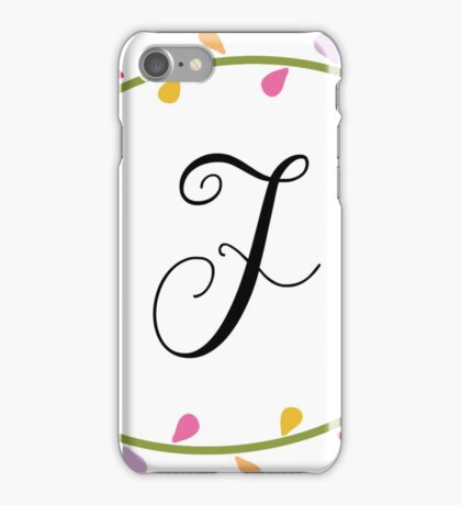 Beautiful Intials ~ F iPhone Case/Skin