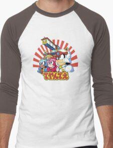 Samurai Pizza Caaaats! Men's Baseball ¾ T-Shirt