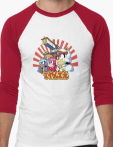 Samurai Pizza Caaaats! Men's Baseball ¾ T-Shirt