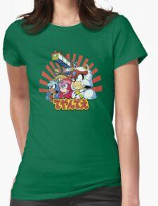 Samurai Pizza Caaaats! Womens Fitted T-Shirt