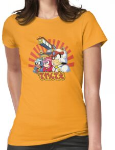 Samurai Pizza Caaaats! Womens Fitted T-Shirt