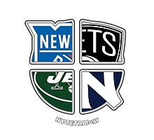 New York Pro Sports TETRAlogy! Yankees, Jets, Nets and Rangers by Sochi