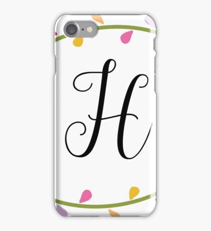 Beautiful Intials ~ H iPhone Case/Skin
