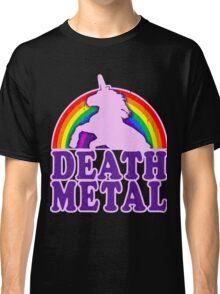 FUNNY DEATH METAL UNICORN RAINBOW Classic T-Shirt