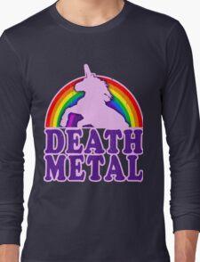 FUNNY DEATH METAL UNICORN RAINBOW Long Sleeve T-Shirt