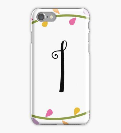 Beautiful Intials ~ I iPhone Case/Skin