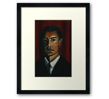 'BLACK AS MIDNIGHT ON A MOONLESS NIGHT' - from 'The Peaks' range Framed Print